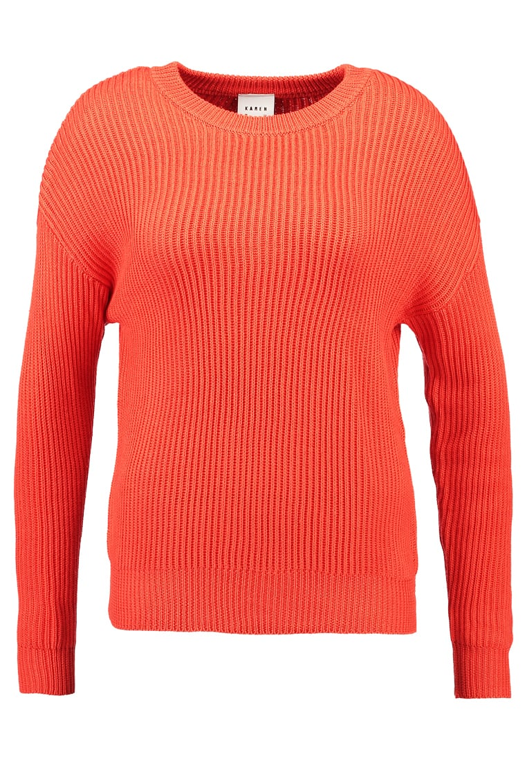 Karen by Simonsen ACTUAL Sweter mandarin red - 10100936