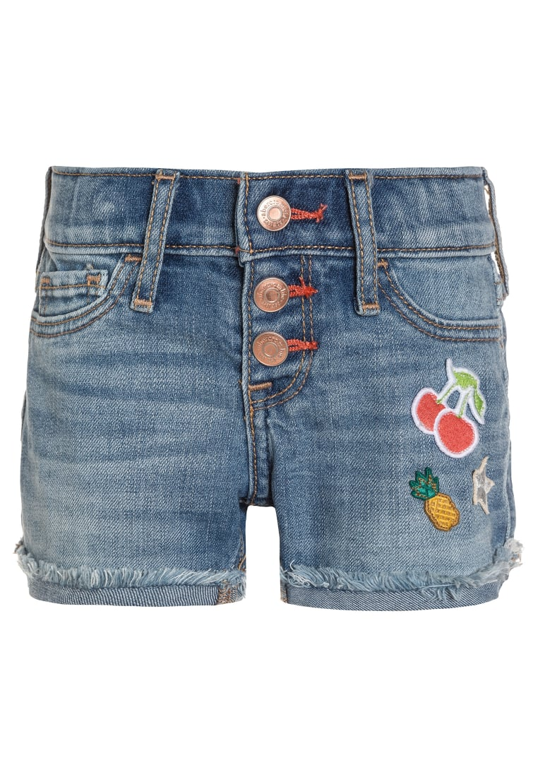 Abercrombie & Fitch Szorty jeansowe blue denim - KI249-7012