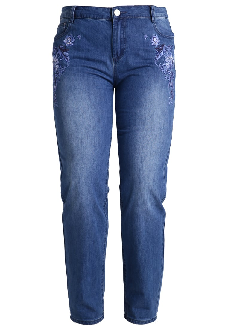 Lost Ink Plus Jeansy Relaxed fit mid denim - 0503115040240025