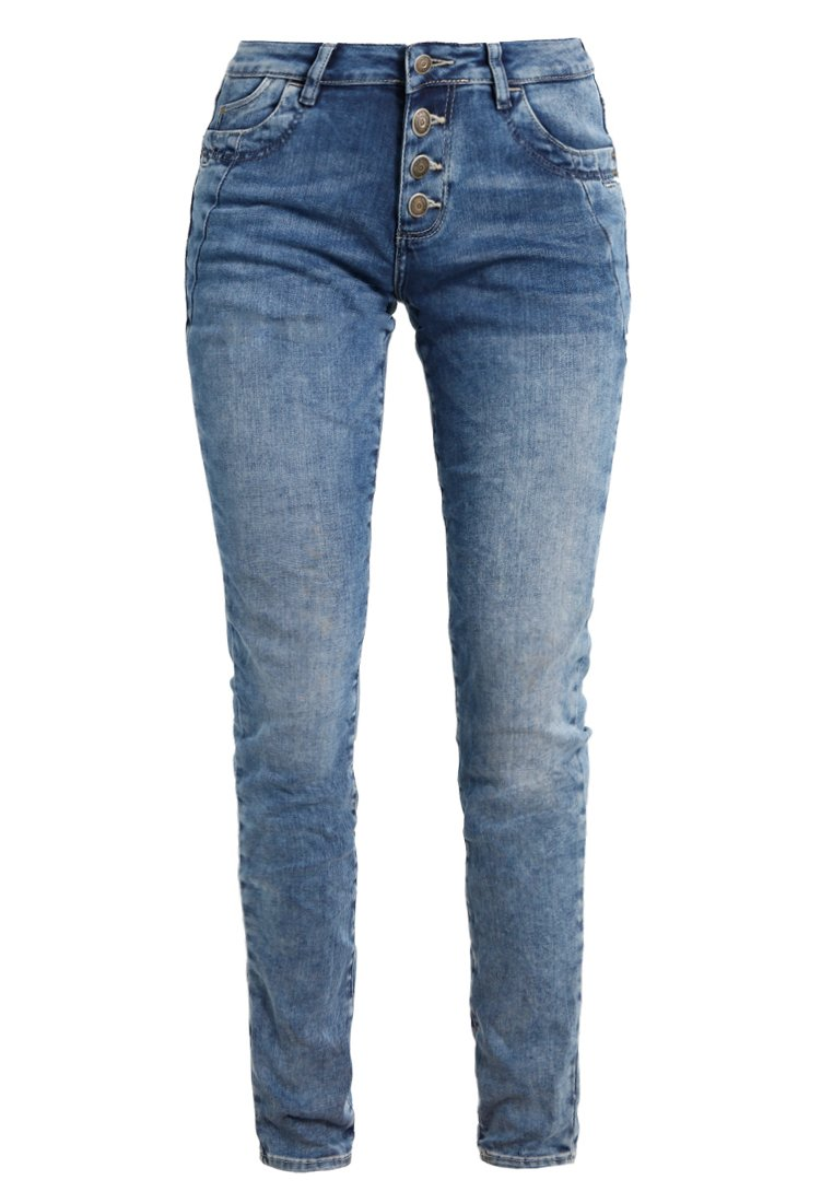 s.Oliver RED LABEL SHAPE Jeansy Slim Fit mid blue heavy stone wash