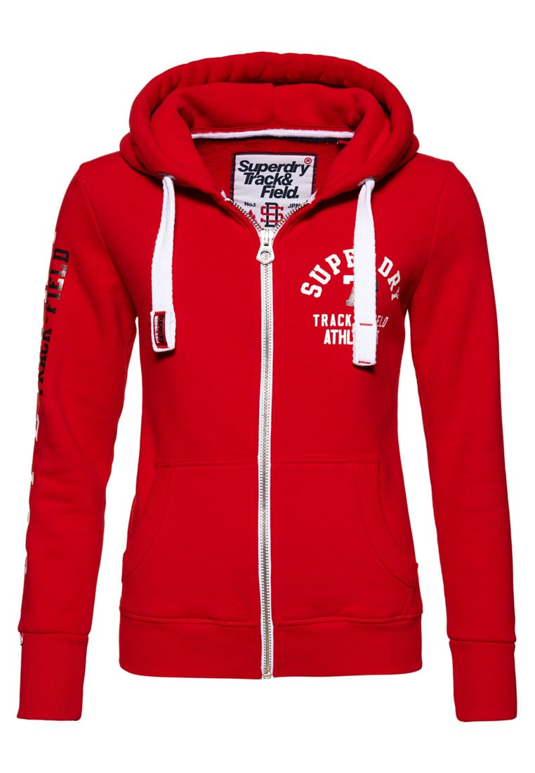 Superdry Bluza rozpinana red/white
