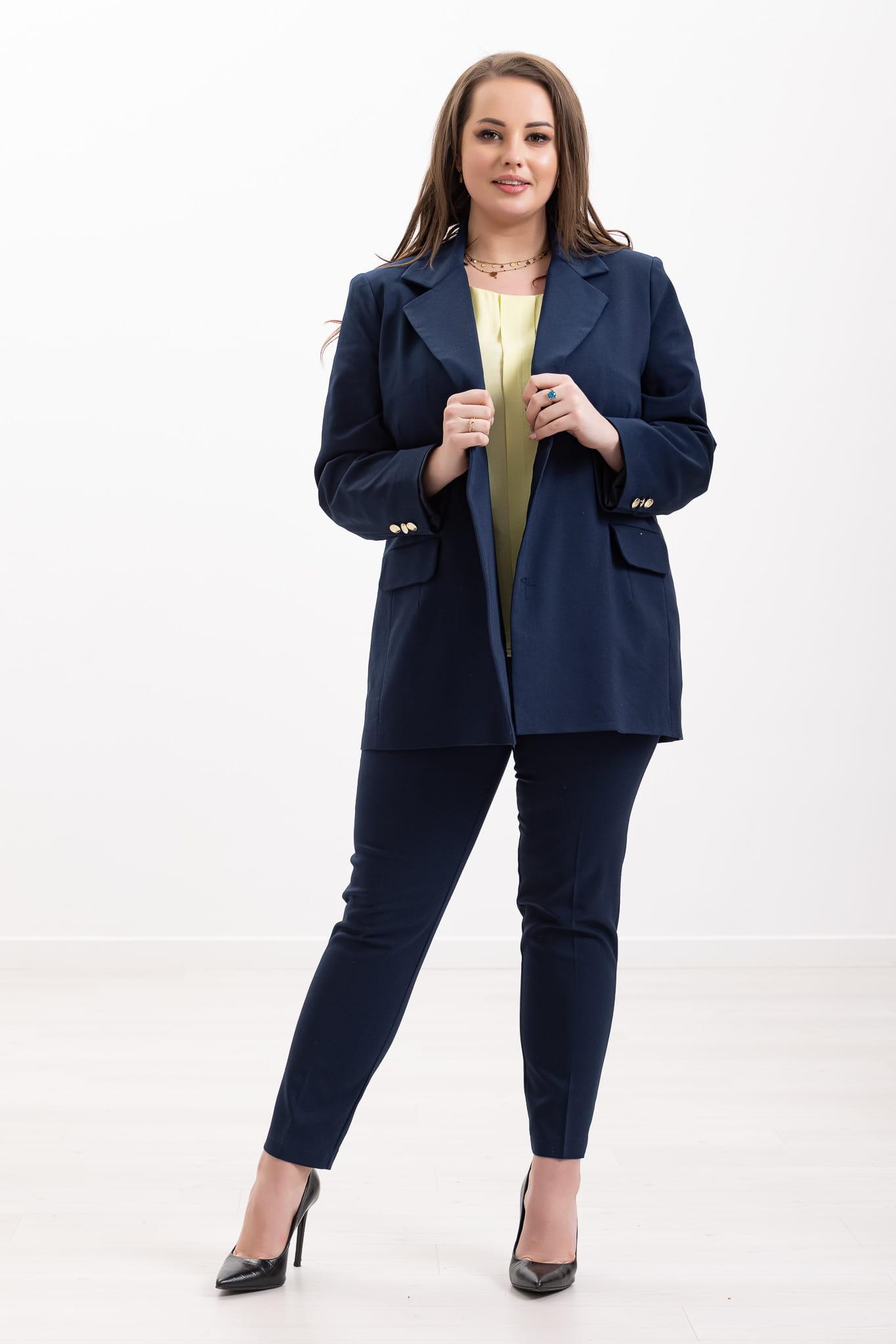 Granatowy kostium Tara XXL OVERSIZE WIOSNA rozmiar 54 – Moda Size Plus