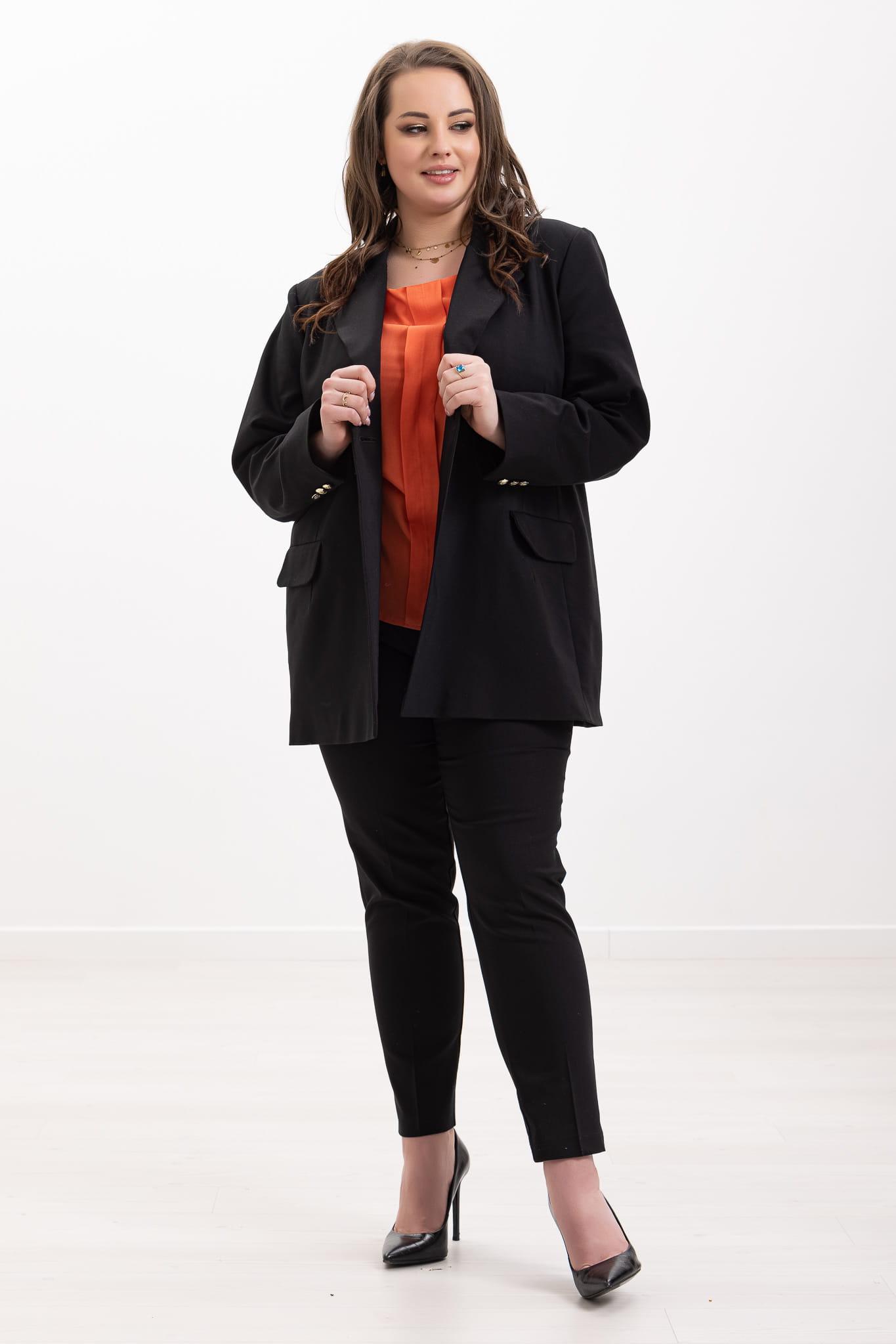 Czarny kostium Tara XXL OVERSIZE WIOSNA rozmiar 54 – Moda Size Plus