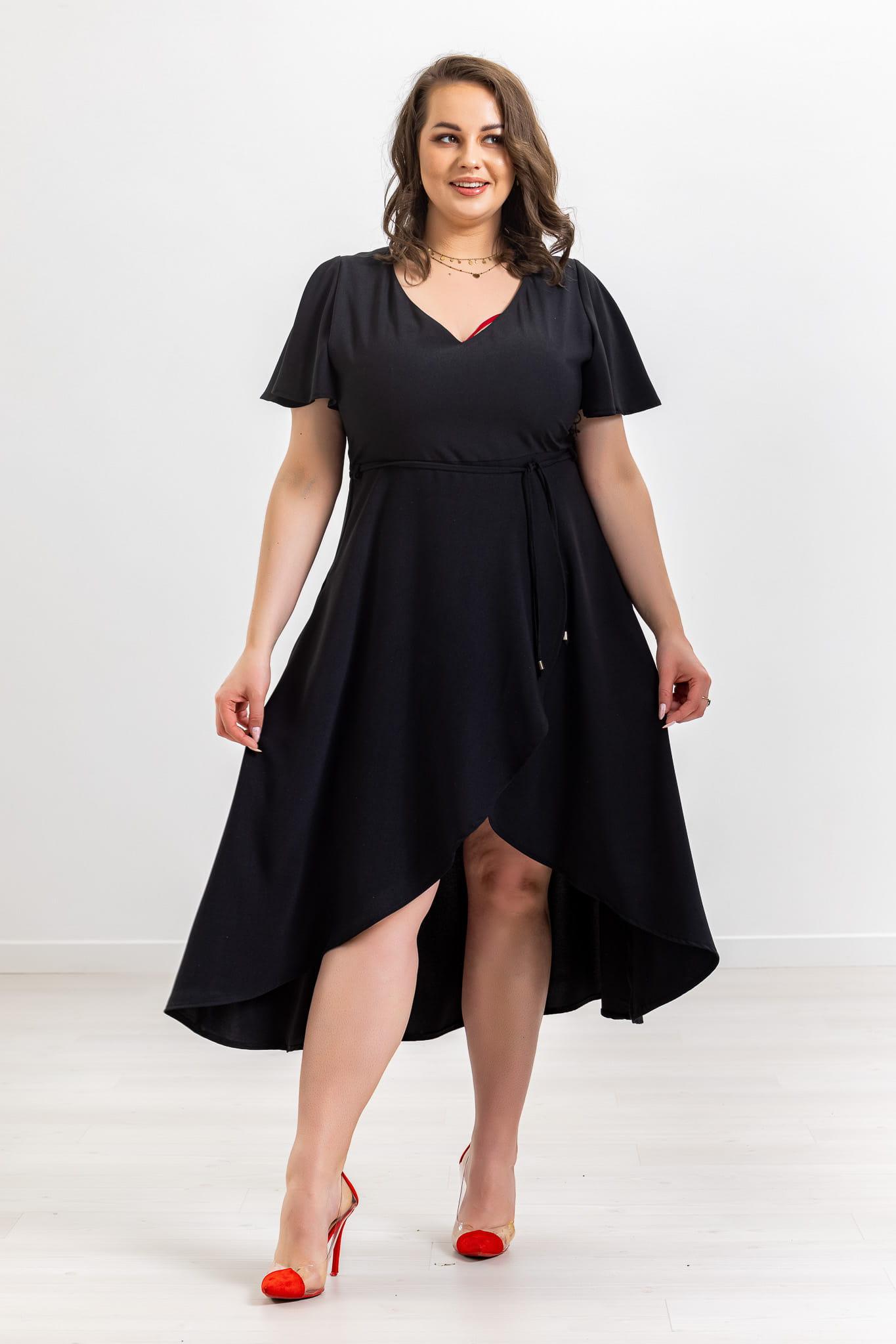 Czarna sukienka Atena XXL OVERSIZE WIOSNA rozmiar 48
