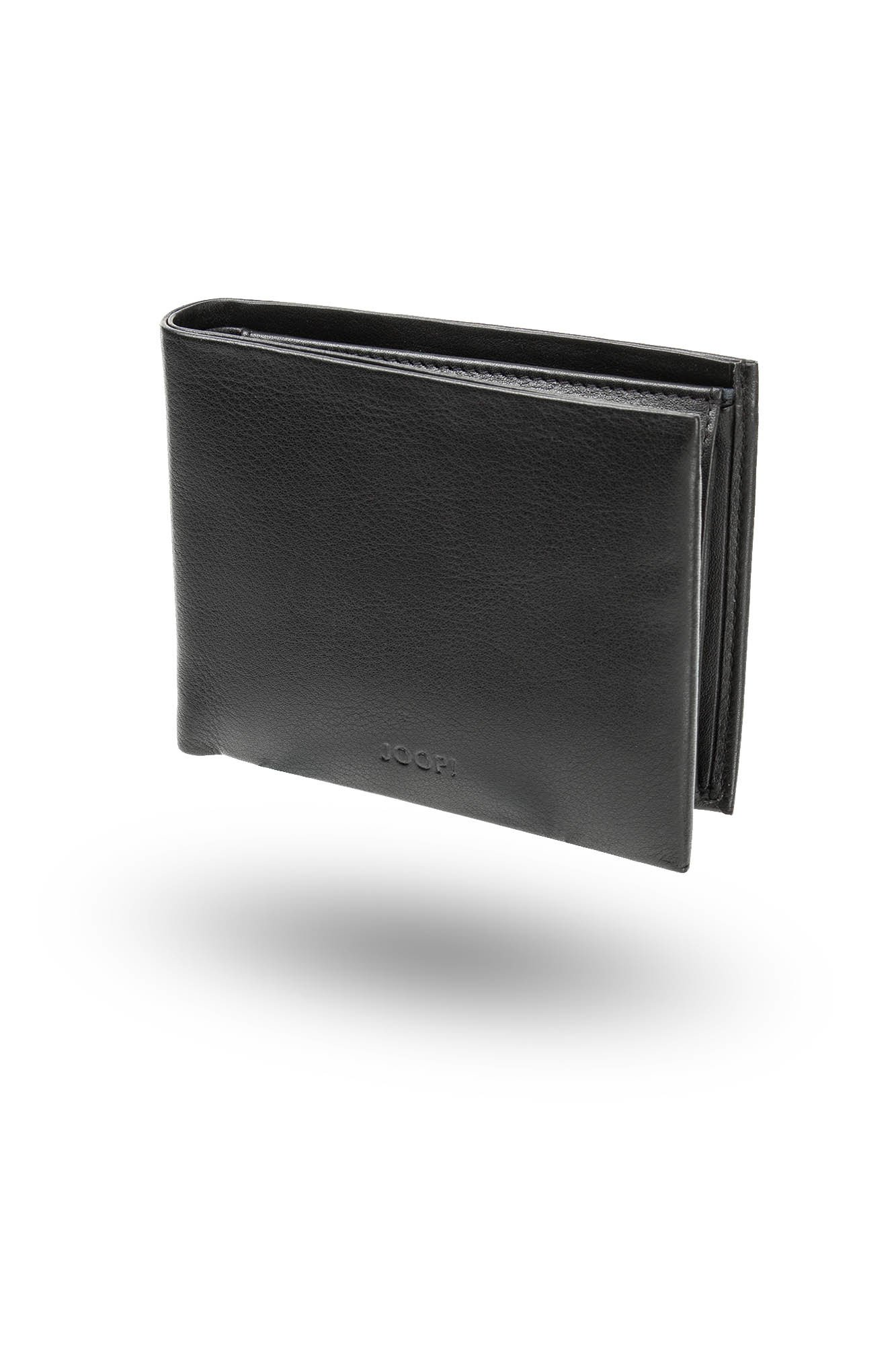 Czarny skórzany portfel męski rozmiar Uniwersalny