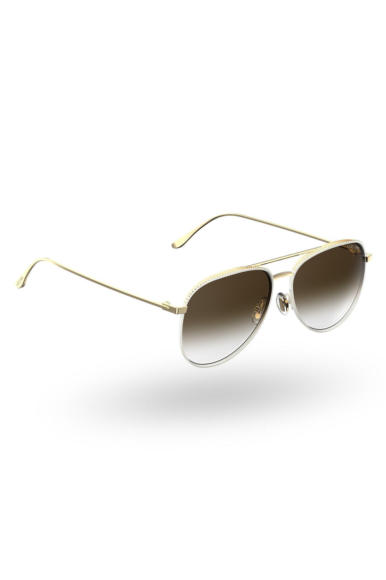 Biało-złote okulary przeciwsłoneczne rozmiar Uniwersalny