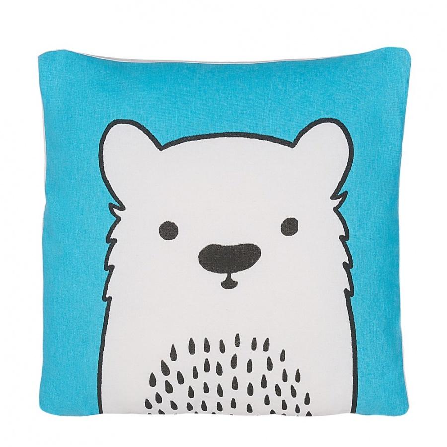 Poduszka dla dzieci miś 45 x 45 cm niebieska WARANASI