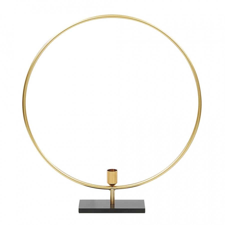 Świecznik metalowy złoty SERAM
