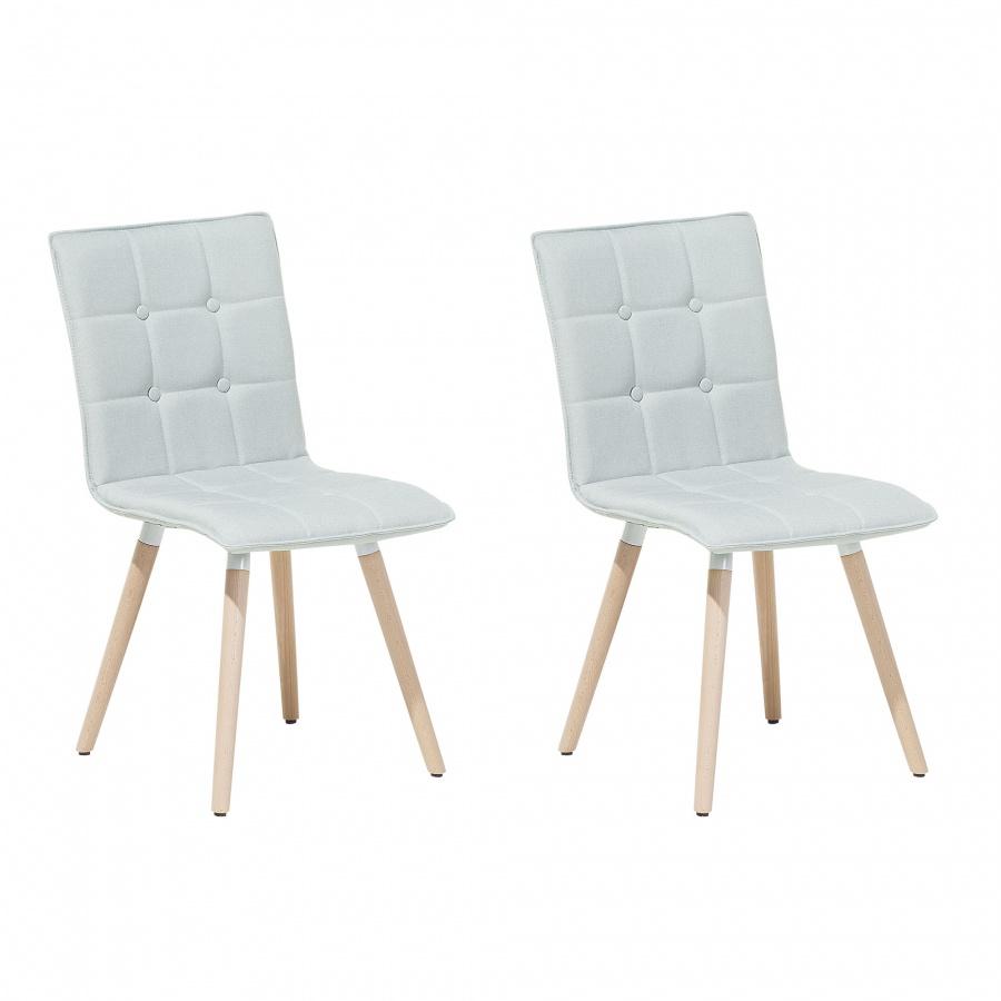 Zestaw do jadalni 2 krzesła szare Pera BLmeble