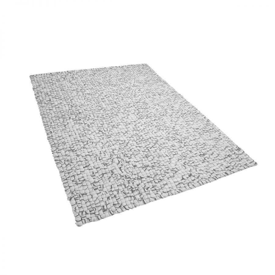 Dywan z filcowych kulek jasnoszary 160 x 230 cm AMDO