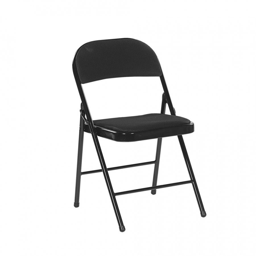 Zestaw 4 krzeseł składanych czarny SPARKS