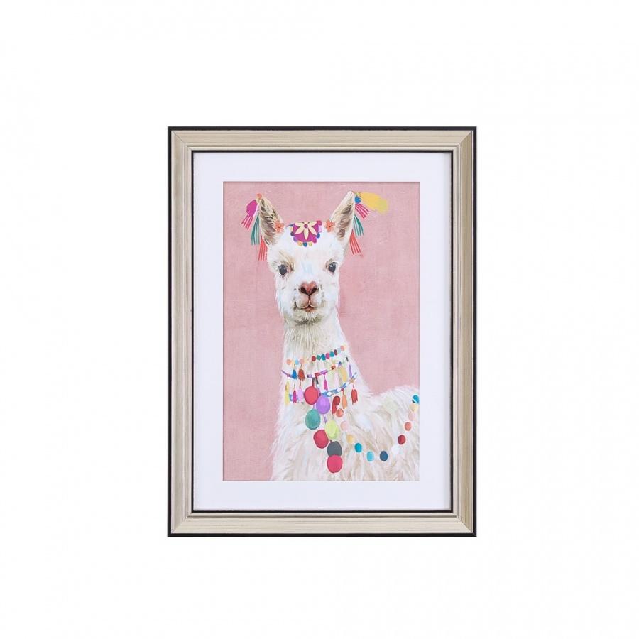 Obraz w ramie 30 x 40 cm różowy BALALA