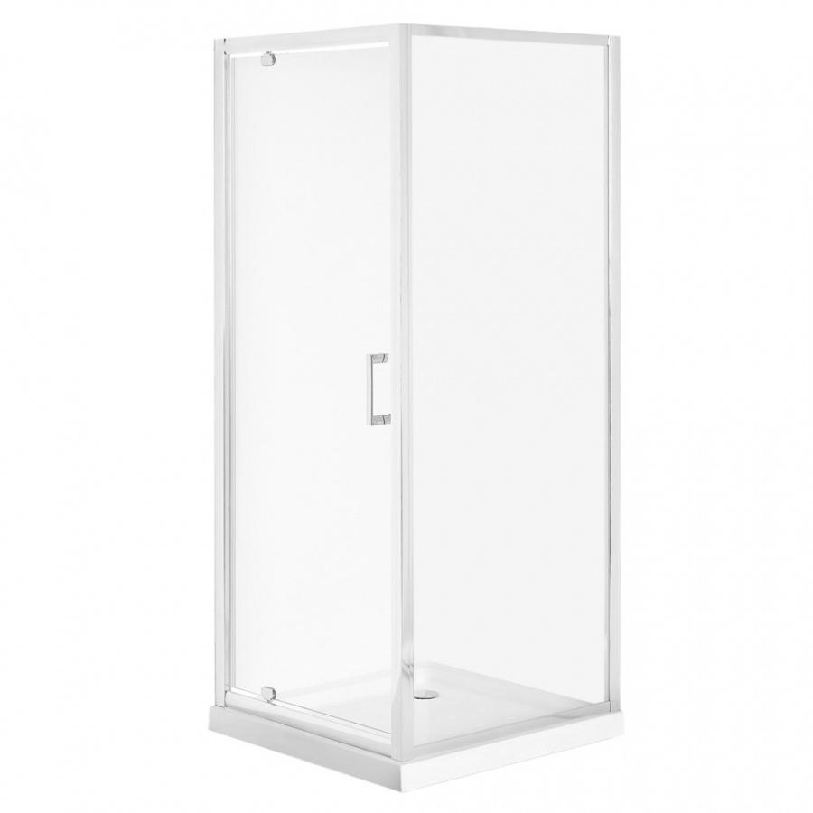 Kabina prysznicowa szkło hartowane 90 x 90 x 185 cm srebrna DARLI
