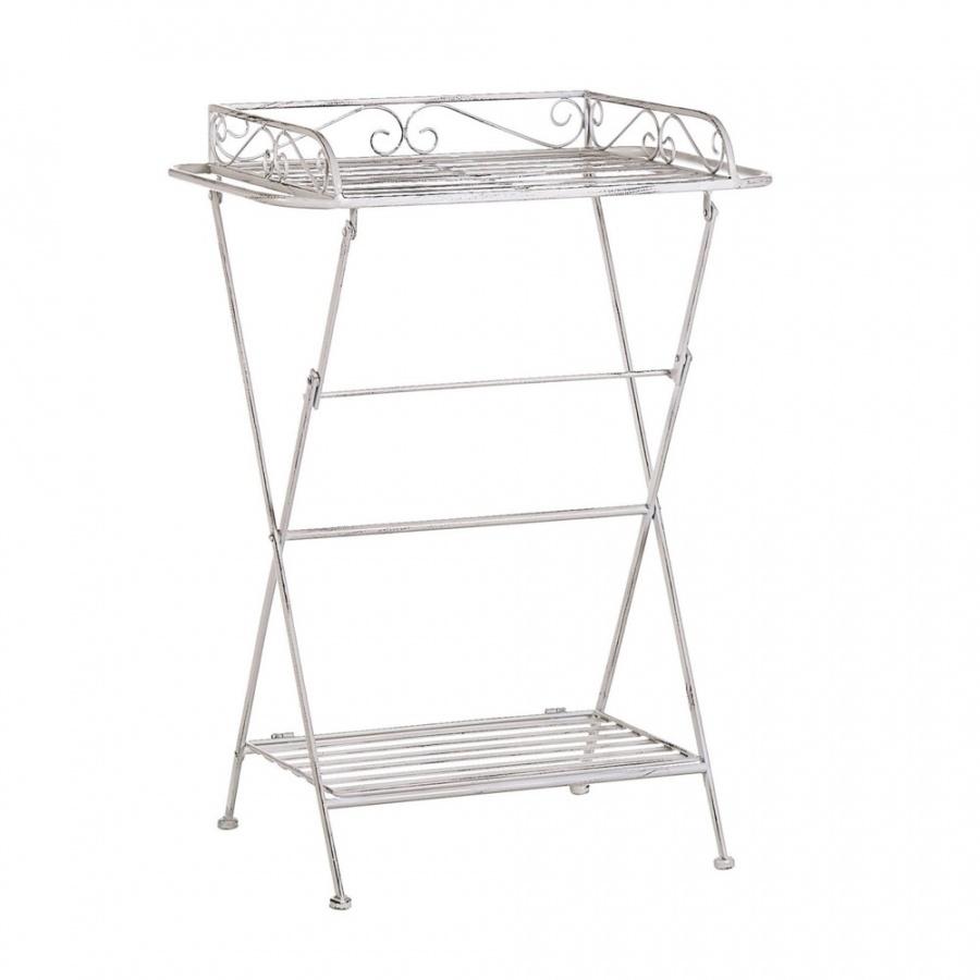 Stolik pomocniczy metalowy biały ANCUD