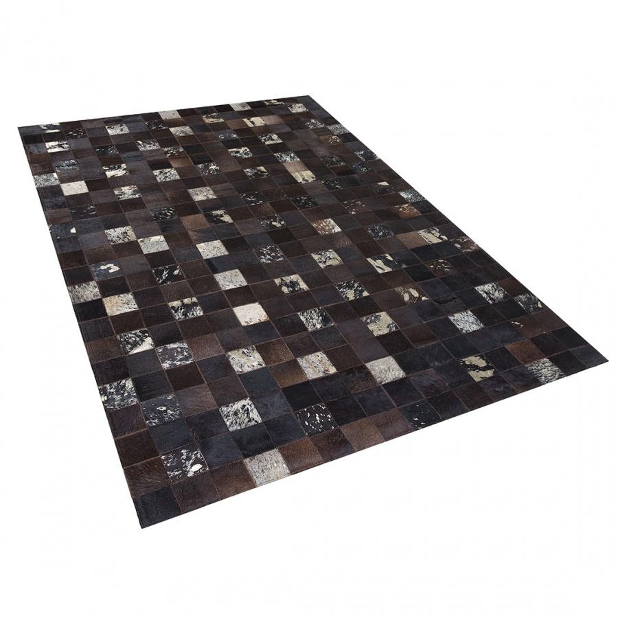 Dywan brązowy skórzany 200 x 300 cm Giaguaro