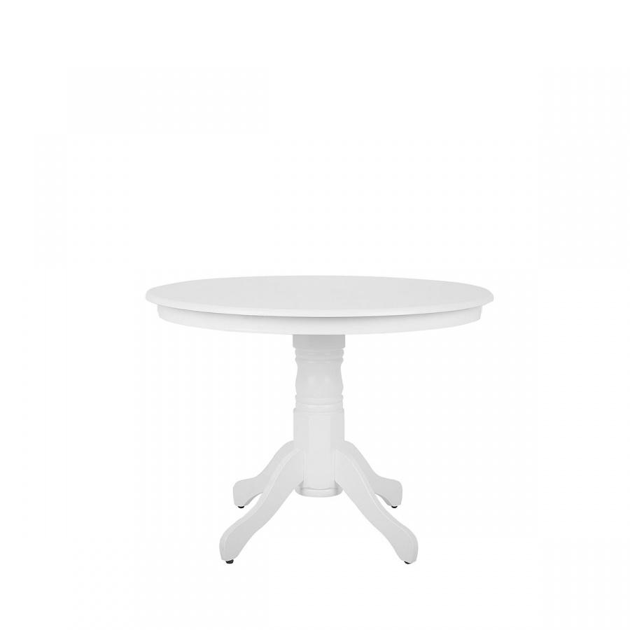 Stół do jadalni biały 100 cm okrągły AKRON
