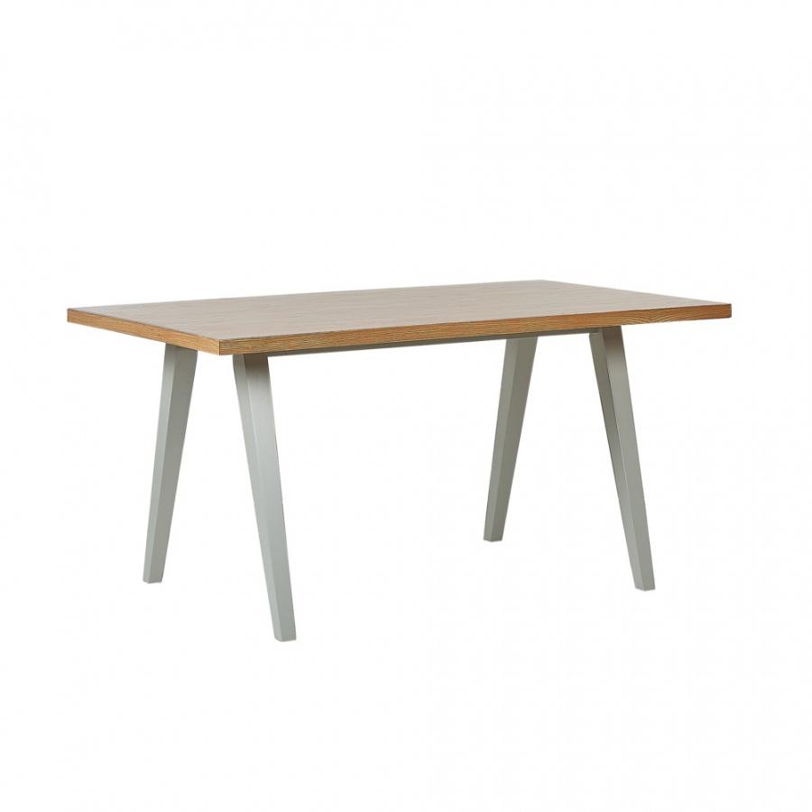 Stół do jadalni 150 x 90 cm jasne drewno z szarym LENISTER