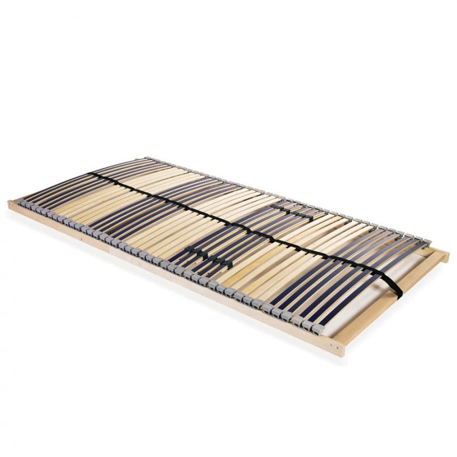 Stelaż do łóżka z 42 listwami, drewno FSC, 7 stref, 120×200 cm