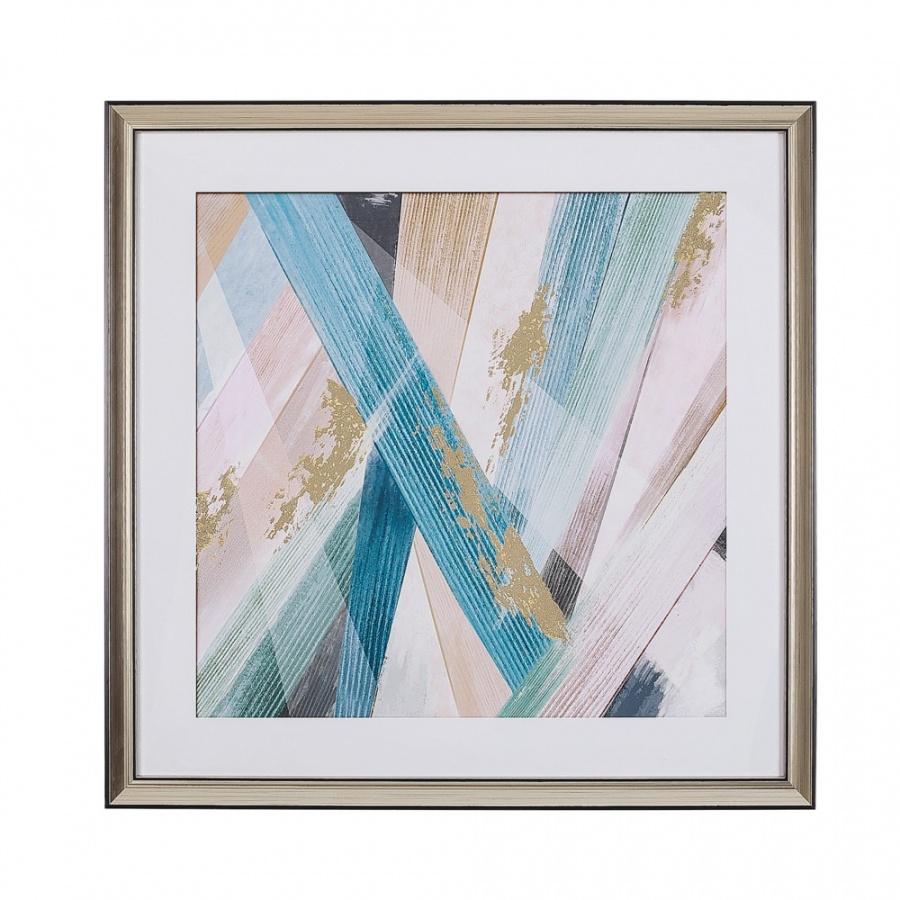 Obraz w ramie 60 x 60 cm wielokolorowy RUMBEK