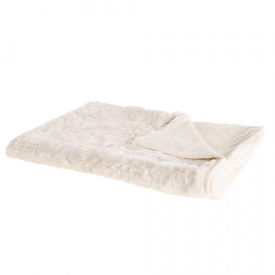 Koc 150 x 200 cm biały TOURZA