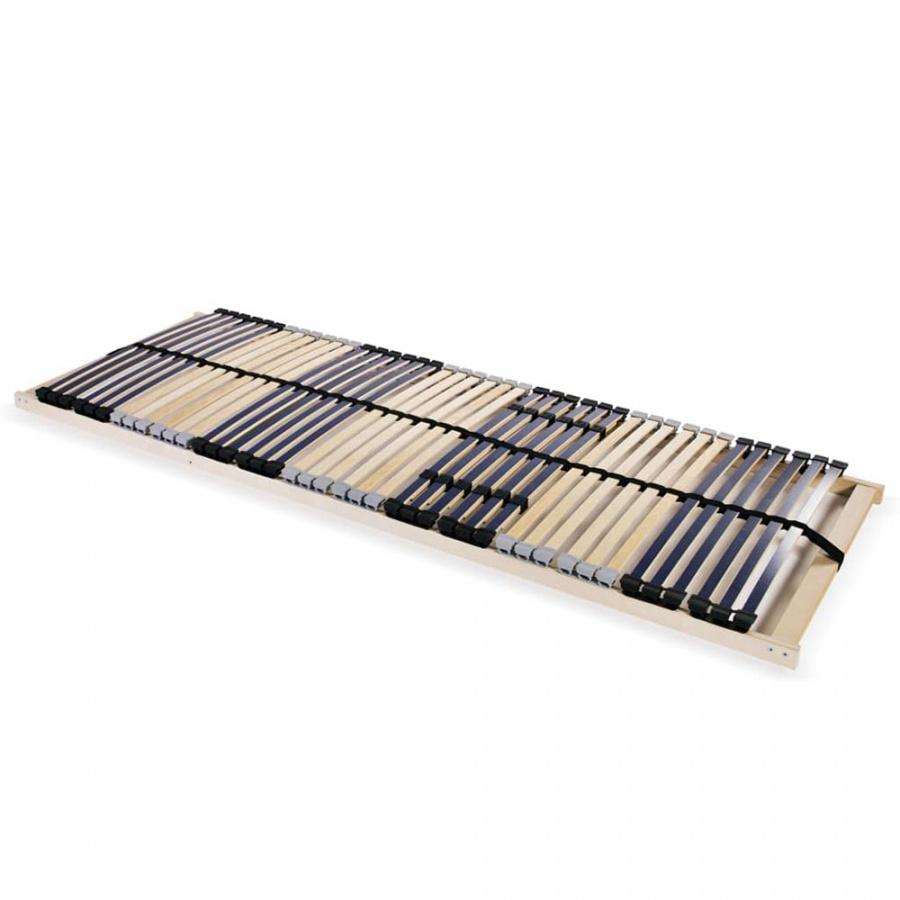 Stelaż do łóżka z 42 listwami, drewno FSC, 7 stref, 90×200 cm
