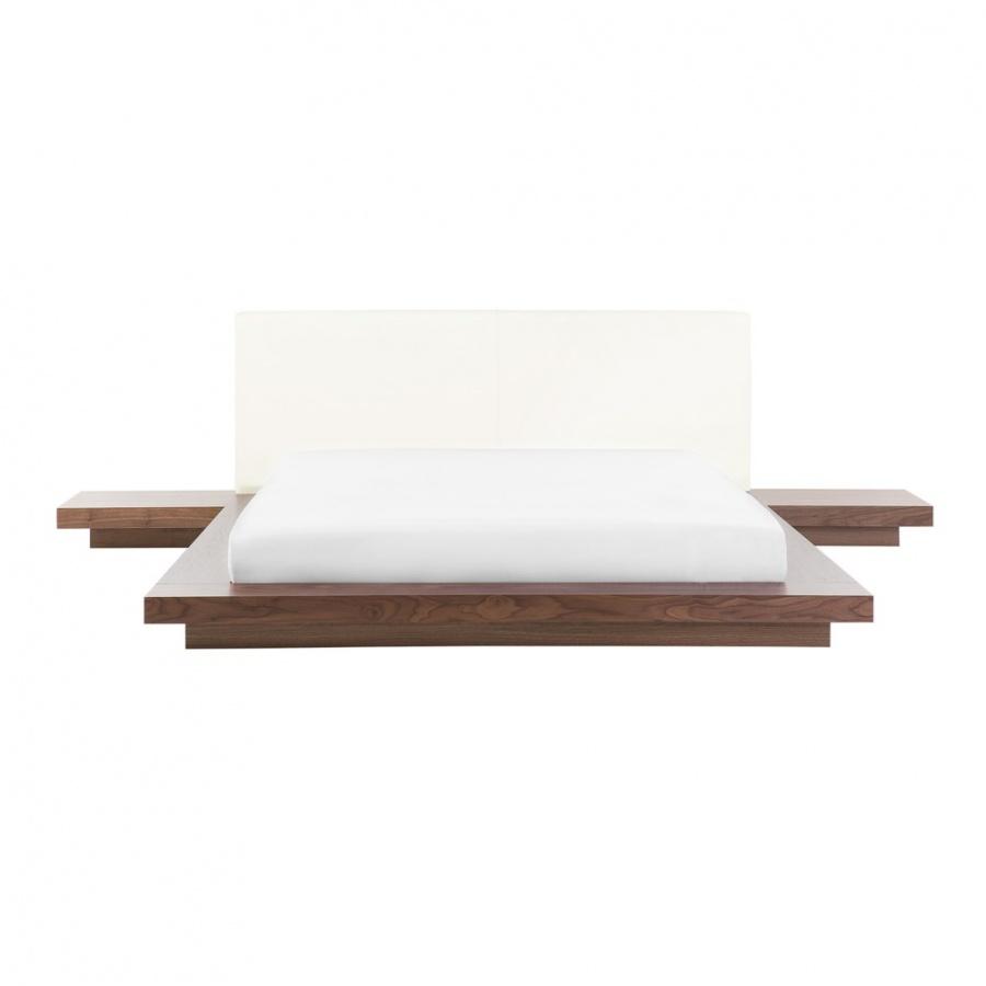 Łóżko 160 x 200 cm brązowe ZEN