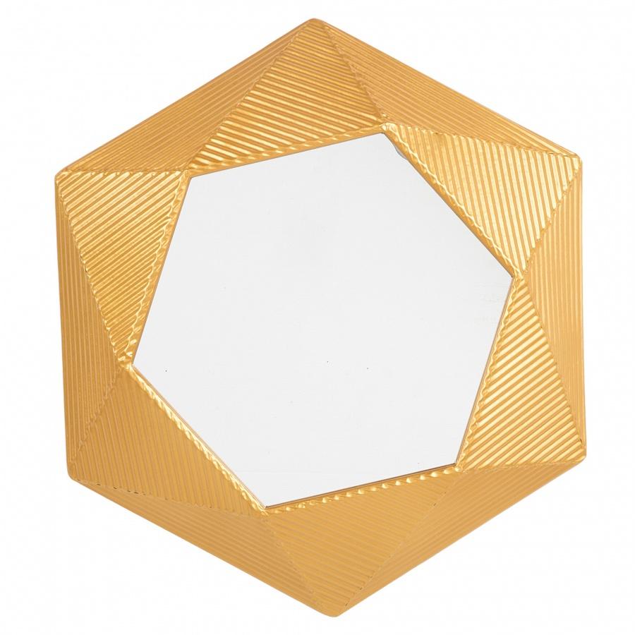 Lustro ścienne złote 60 x 51 cm BASTIA