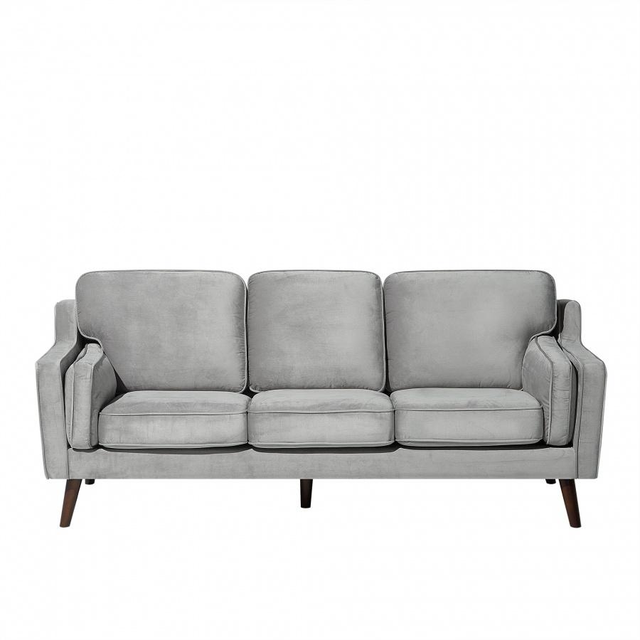 Sofa trzyosobowa tapicerowana jasnoszara Cecilia BLmeble