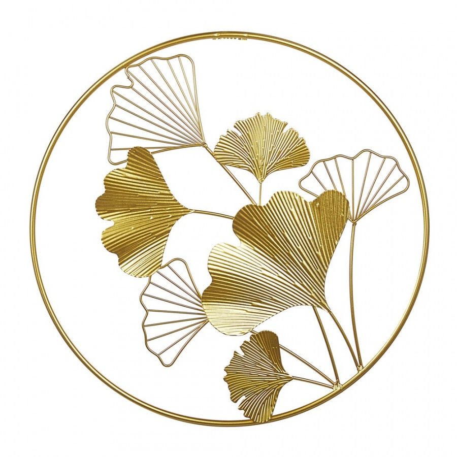 Dekoracja ścienna złota BISMUTH