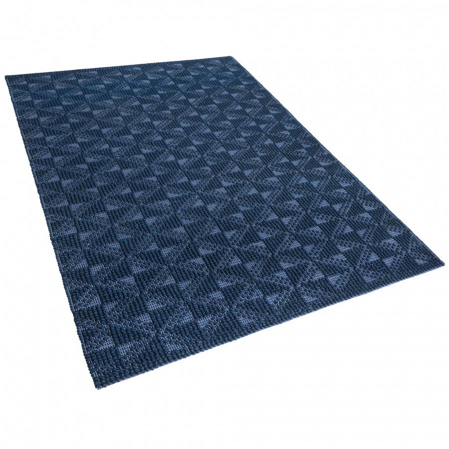 Dywan wełniany krótkowłosy 160 x 230 cm ciemnoniebieski SAVRAN