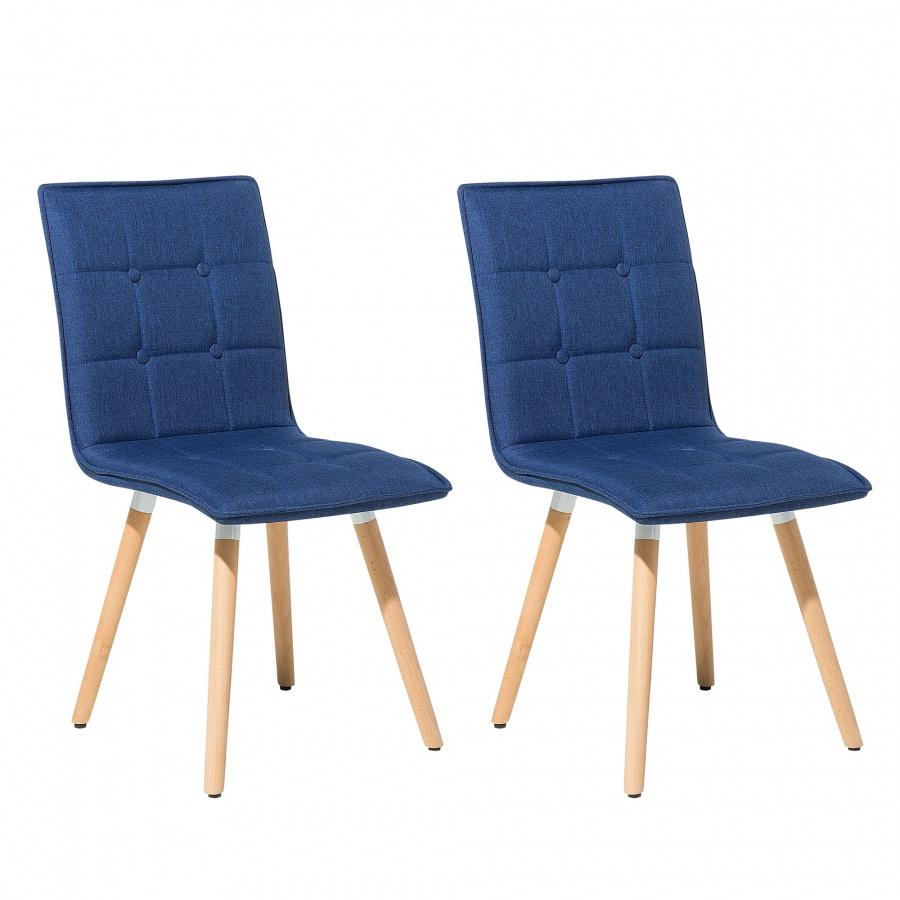 Zestaw do jadalni 2 krzesła ciemnoniebieskie Pera BLmeble