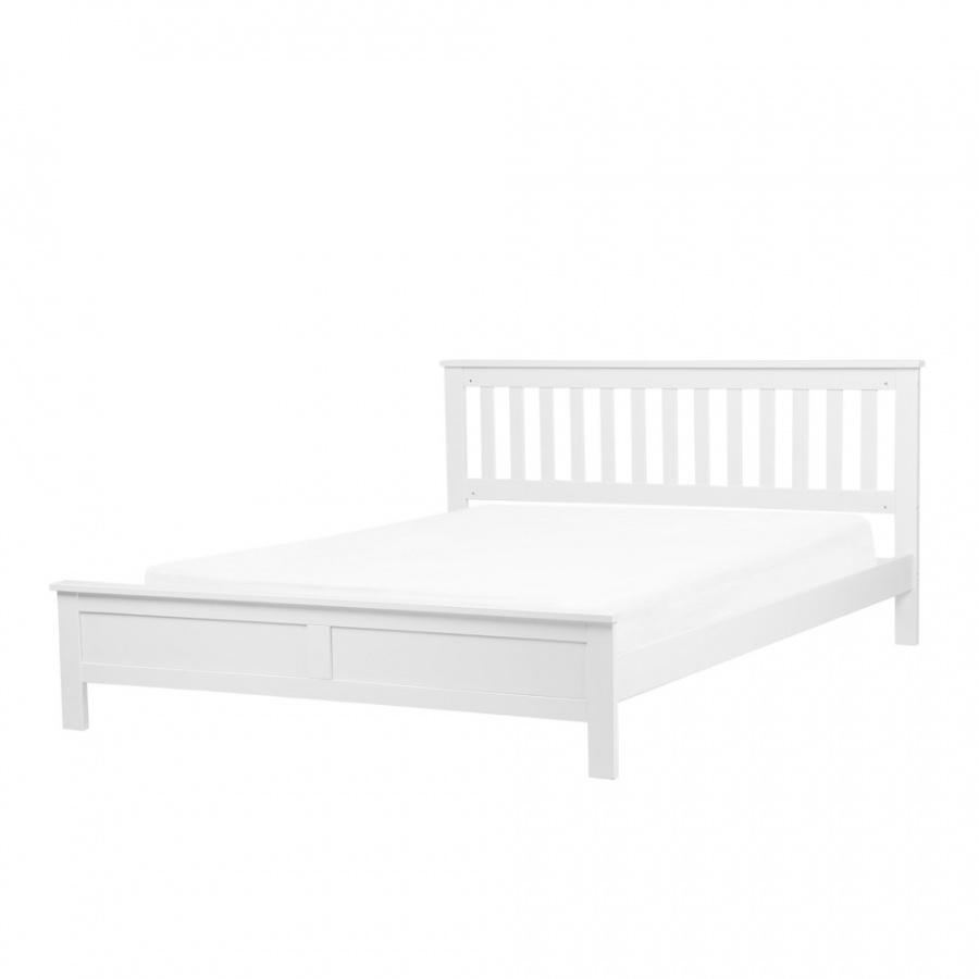 Łóżko drewniane 180 x 200 cm białe MAYENNE