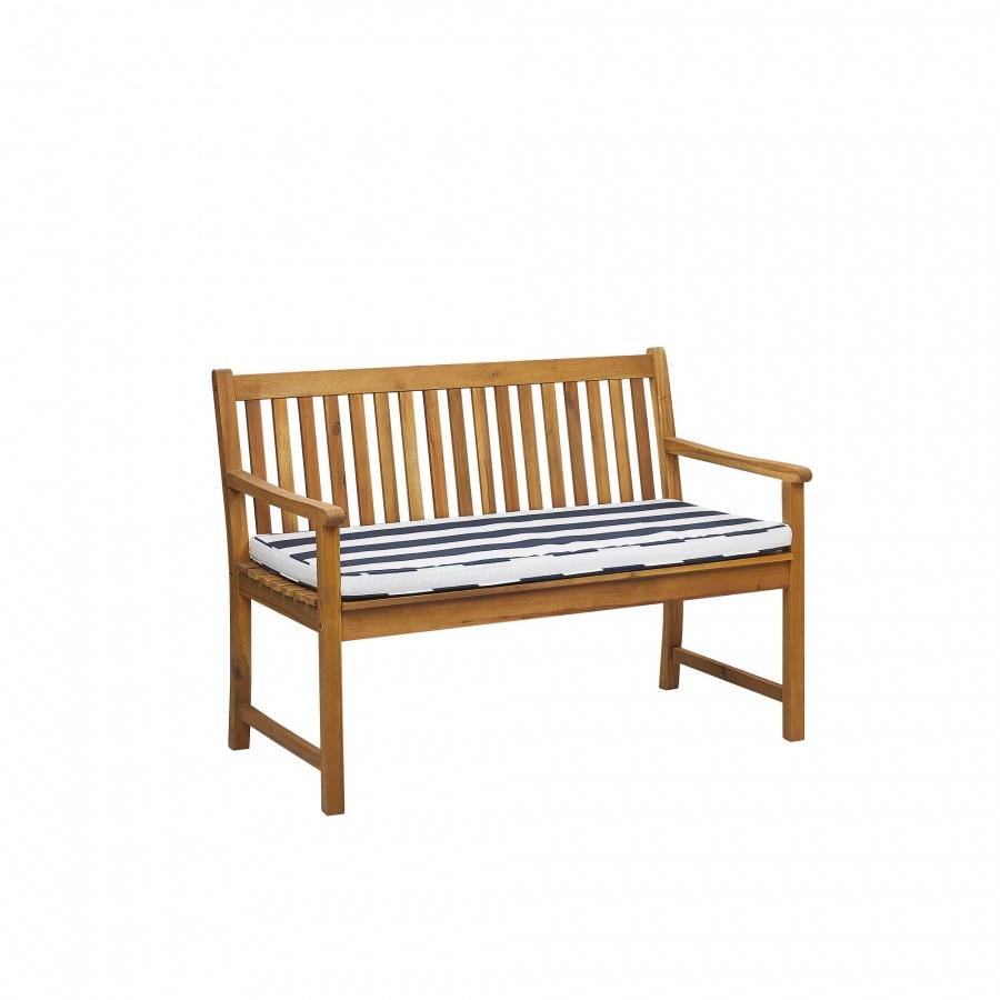 Poduszka na ławkę ogrodową 112 x 54 cm niebiesko-biała VIVARA