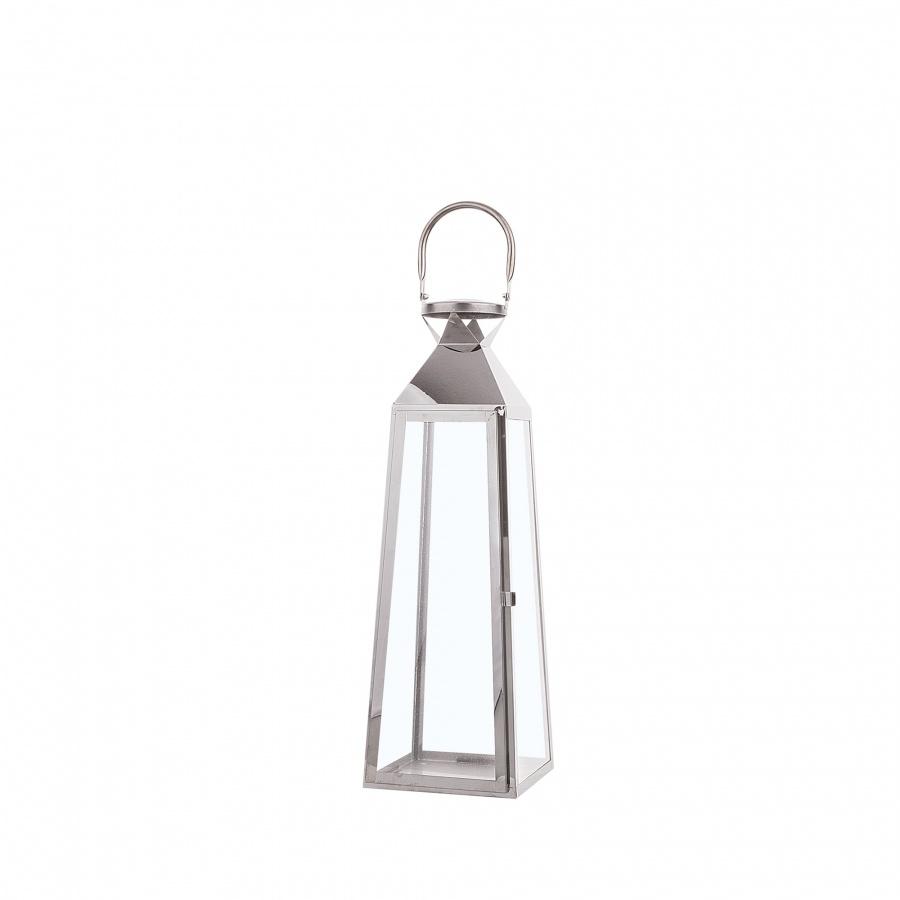 Lampion srebrny 42 cm CRETE