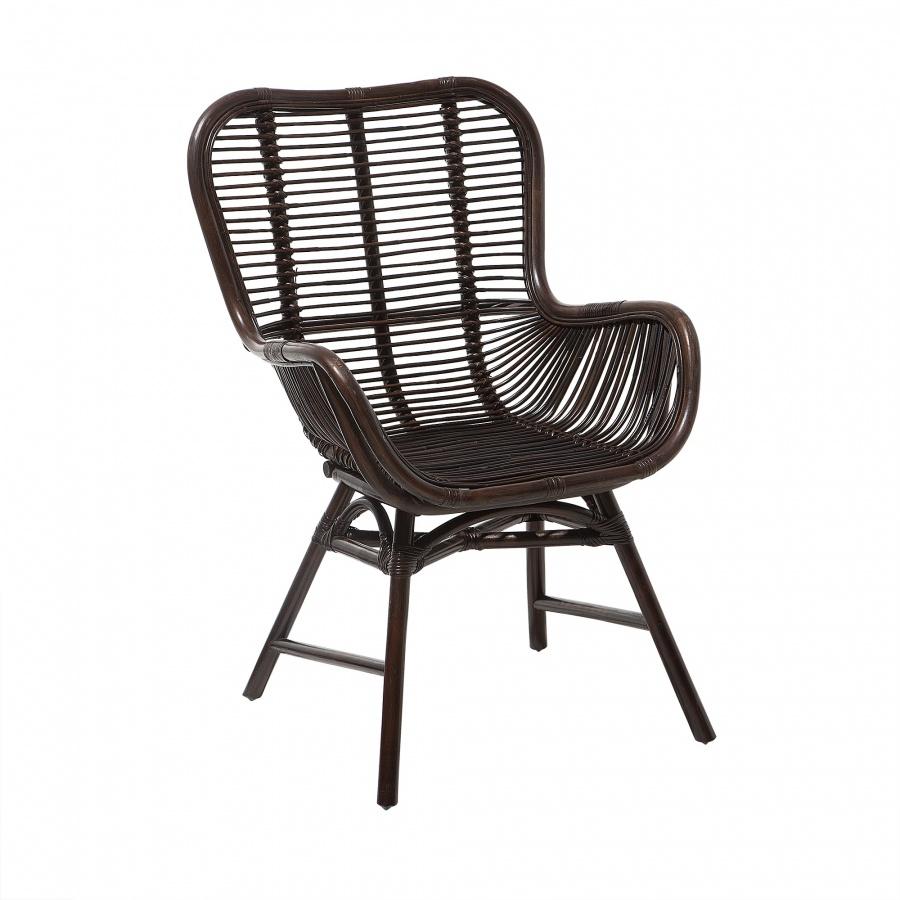 Krzesło rattanowe brązowe Binentino BLmeble