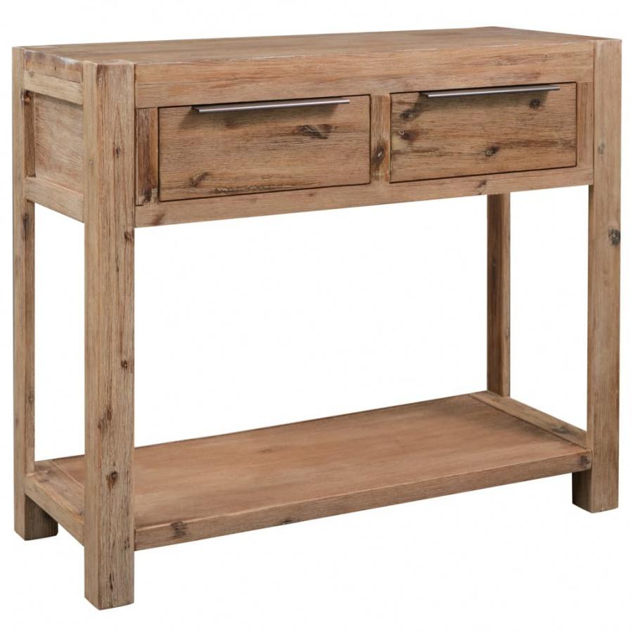 Stolik typu konsola, 82 x 33 x 73 cm, lite drewno akacjowe