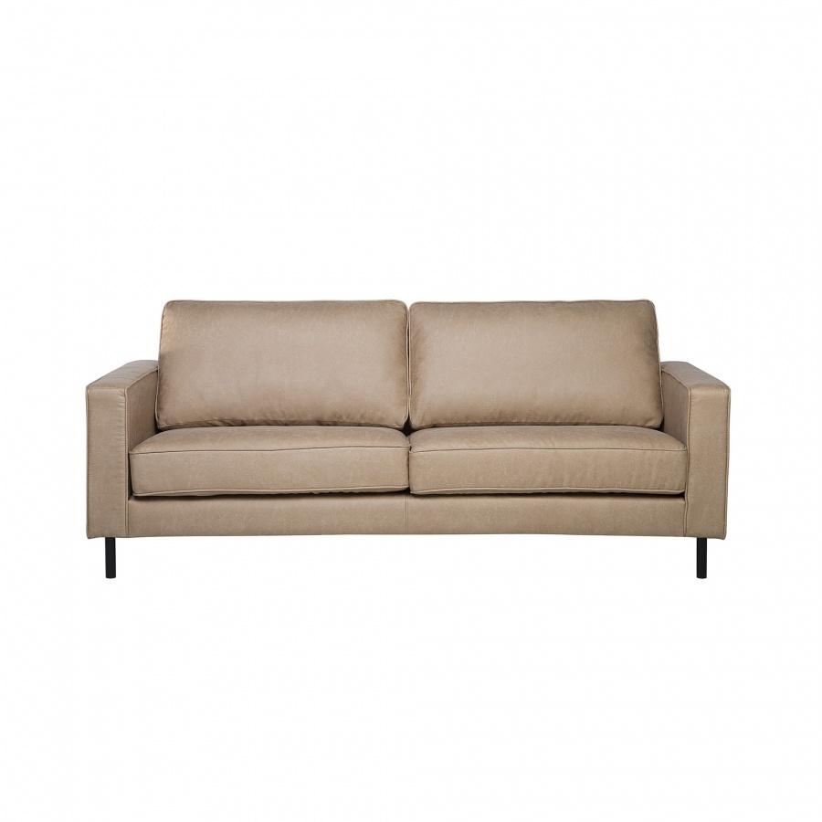 Sofa skórzana beżowa SAVALEN