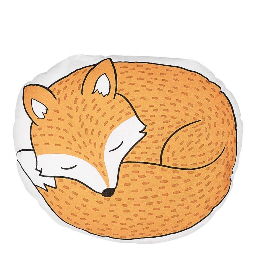 Poduszka dla dzieci lis 50 x 40 cm pomarańczowa DHANBAD