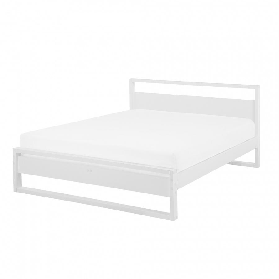 Łóżko drewniane białe 160 x 200 cm GIULIA