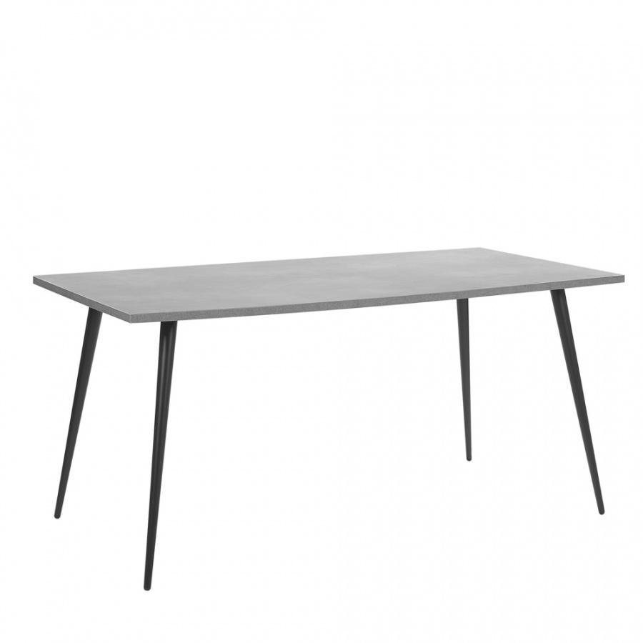 Stół do jadalni 160 x 80 cm efekt betonu z czarnym SANTIAGO