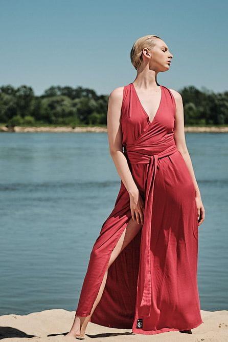 Sukienka Koralowa Sukienka Zalotna