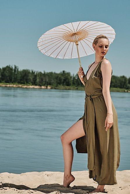 Sukienka Sukienka Zalotna Jasnooliwkowa