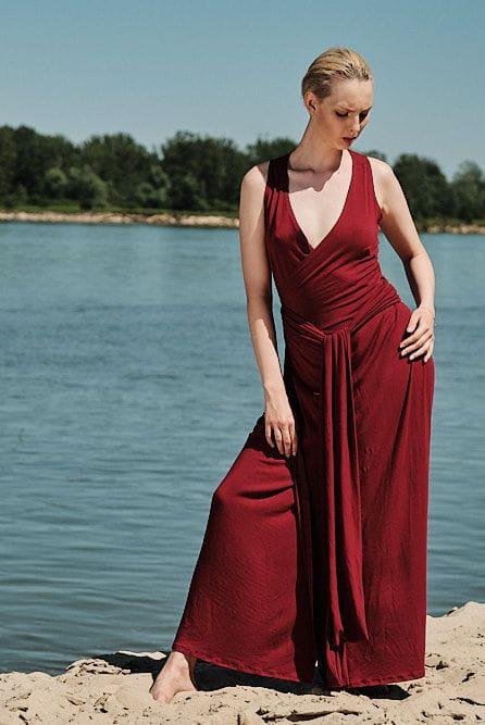 Sukienka Bordowa Sukienka Zalotna
