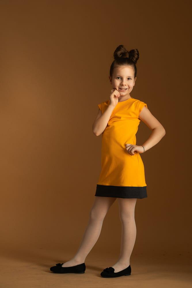 Sukienka Sukienka dziewczęca mandarynkowa