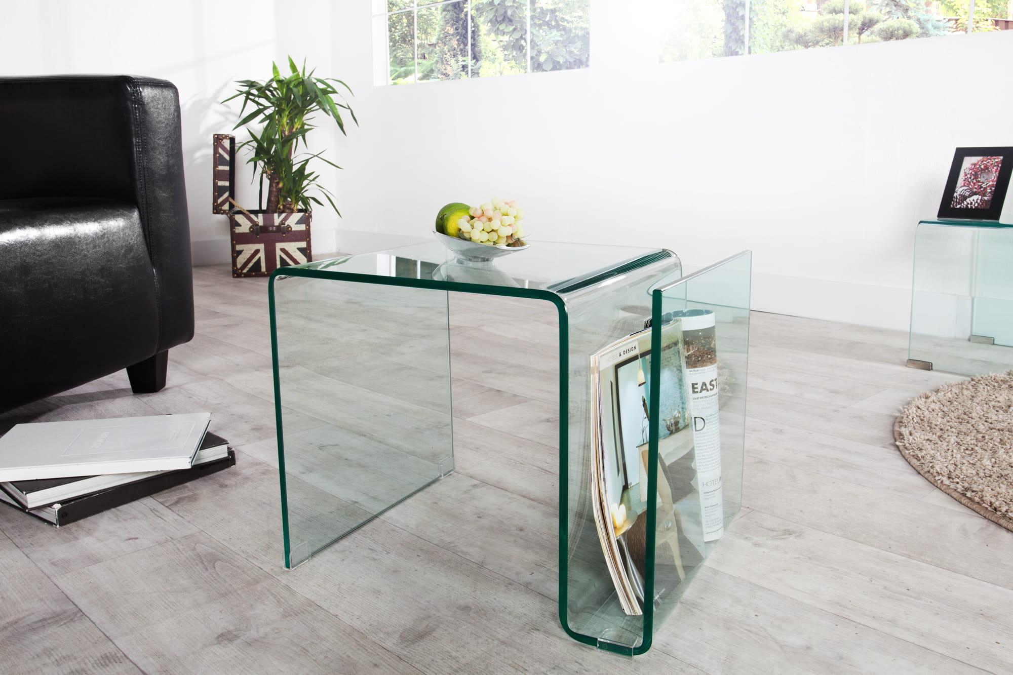 Stolik kawowy Tomas szklany 50 cm