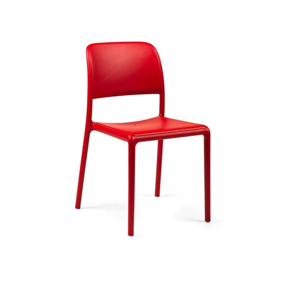 Krzesło Riva Bistrot Nardi czerwone