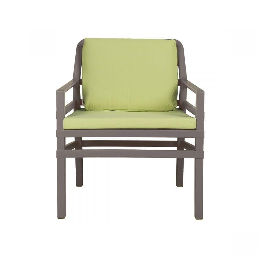 Nardi Krzesło Aria brąz-limonka