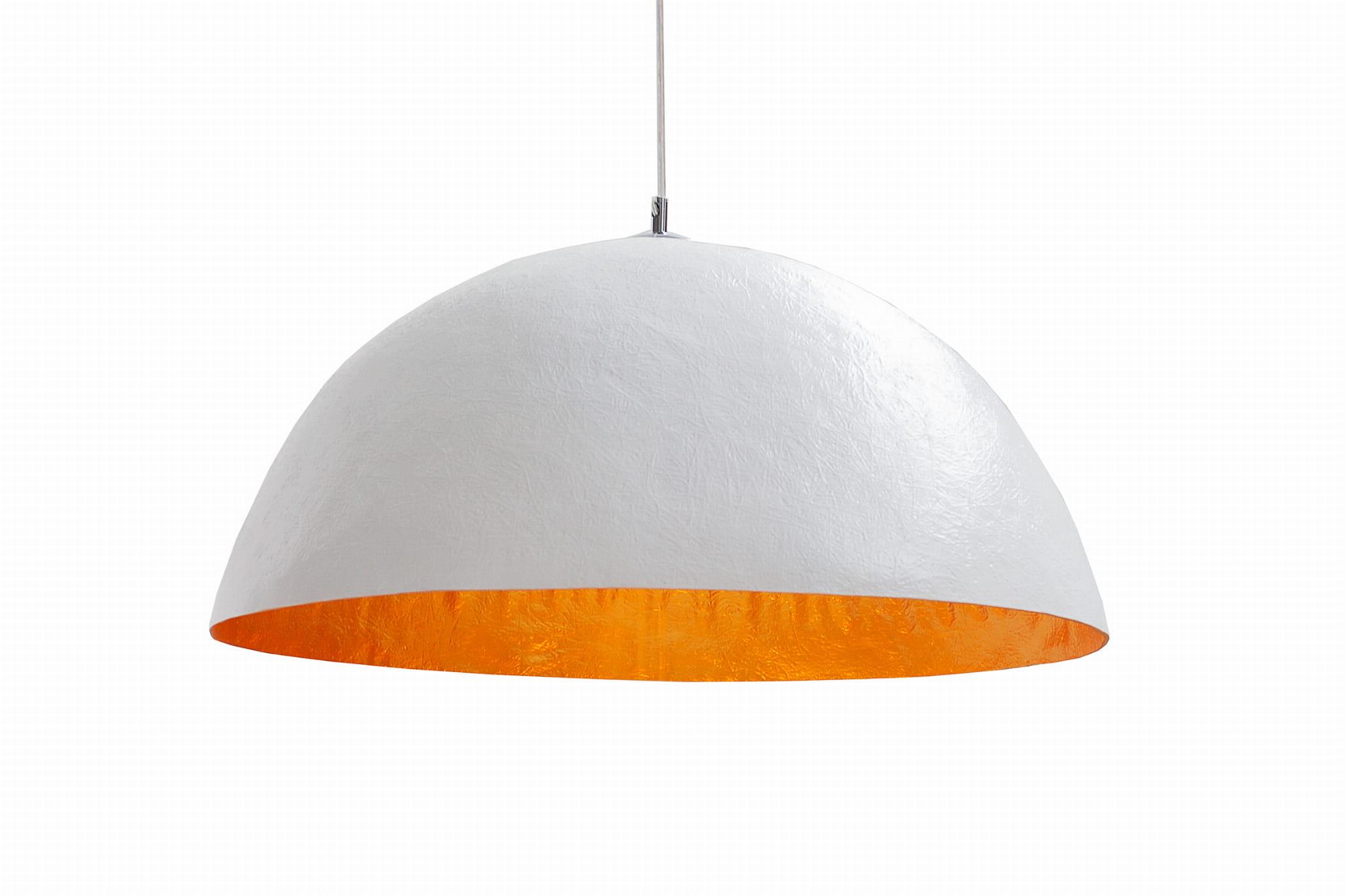 Lampa wisząca Sinus biało-złota 50 cm