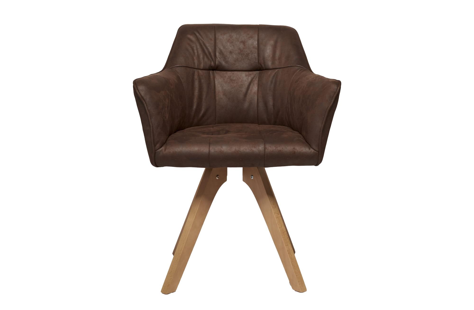 Krzesło Industrial z podłokietnikiem brązowe
