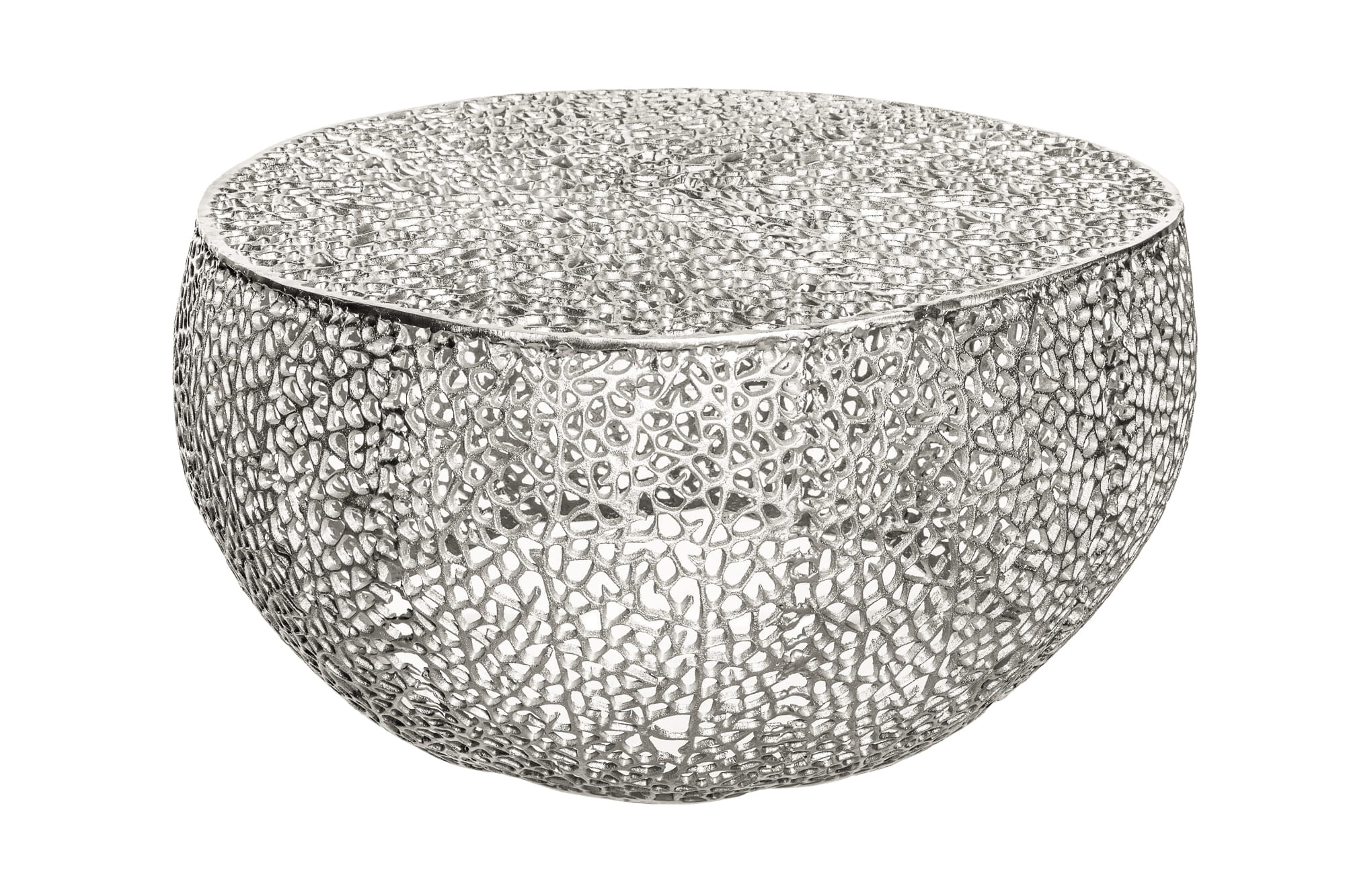 Stolik kawowy Laura srebrny 80 cm
